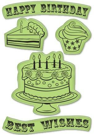 Inkadinkado Rubber Stamp Happy Birthday 60-60012