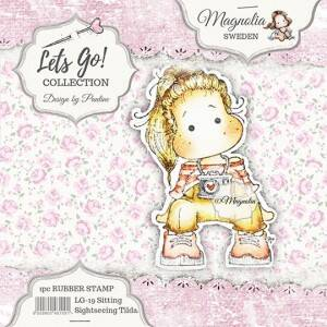 Magnolia Stamp -2019-LG 05 Sitting Sightseeing Tilda