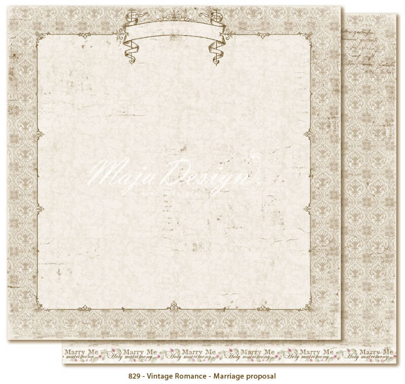Maja Design - 829 - Vintage Romance - Marriage Proposal