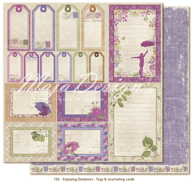 Maja Design - 792 -Enjoying Outdoors - Tags & Journaling cards