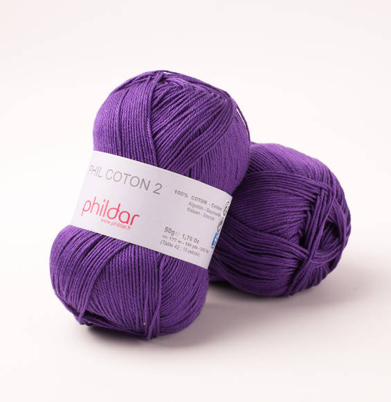 Phildar Phil Coton 3 Violet 1445