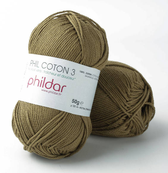 Phildar Phil Coton 3 Army 0077 (Uitlopend)
