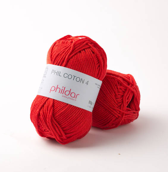 Phildar Phil Coton 4 Rouge 0084