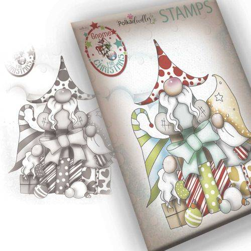 Polkadoodles stamp Gnome - Gift of Christmas -  PD7943