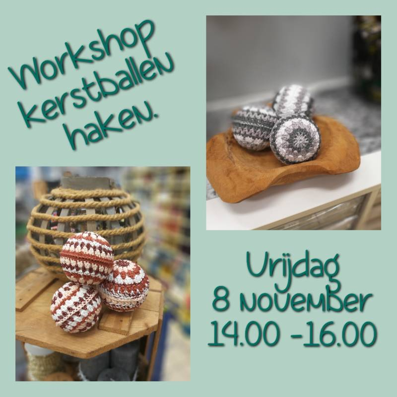 Workshop Kerstballen Haken  - 8 November