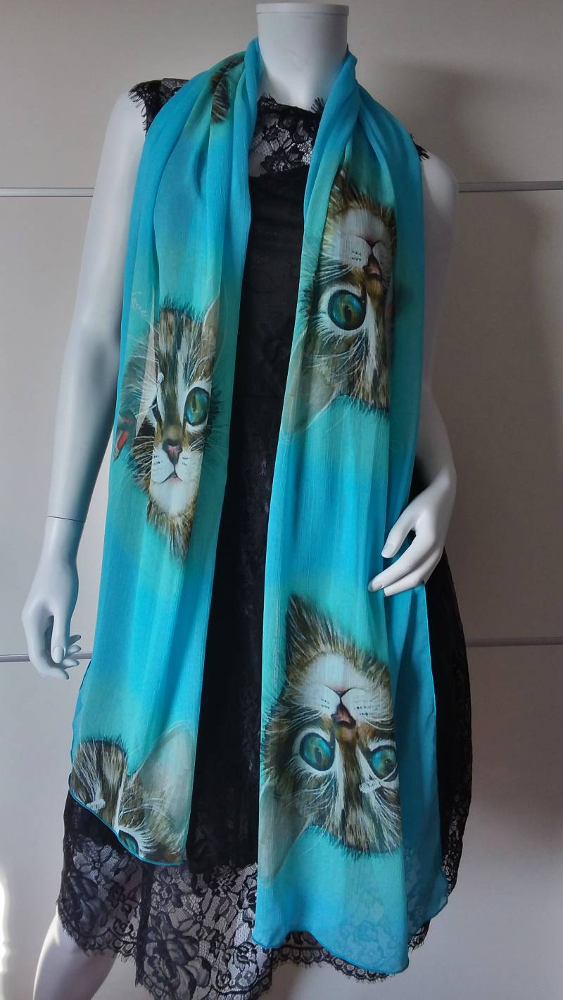 """SYTB☆Scarf """"Pussy Beauty Blue"""""""