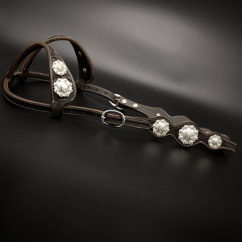 Headstall with Concho's Brown