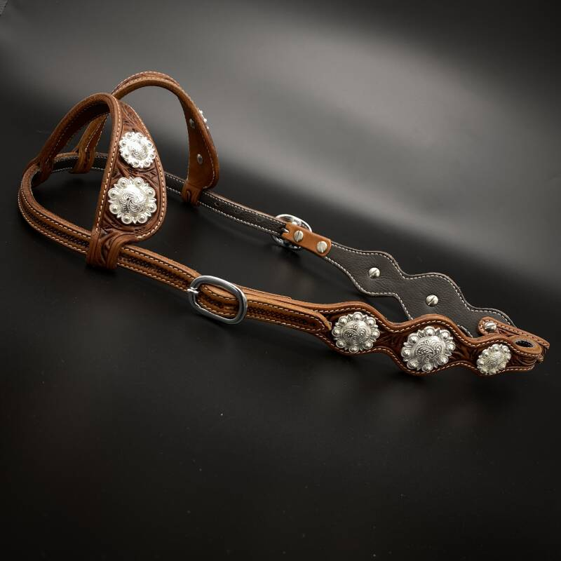 Headstall with Concho's Chesnut