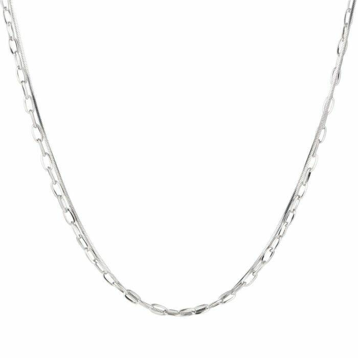 Ketting Double Base Zilver