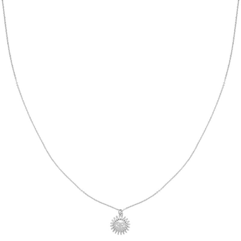 Ketting Smiling Sun Zilver
