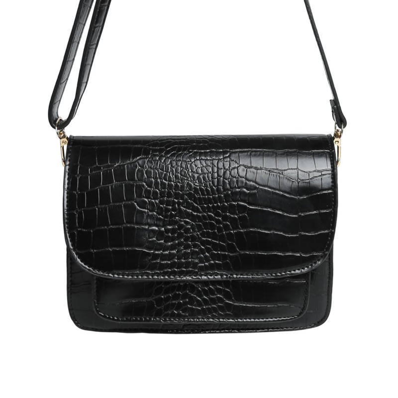 Tas Croco Double Zwart