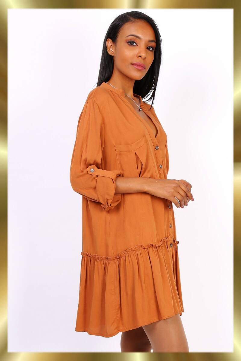 Burnt orange tunic dress