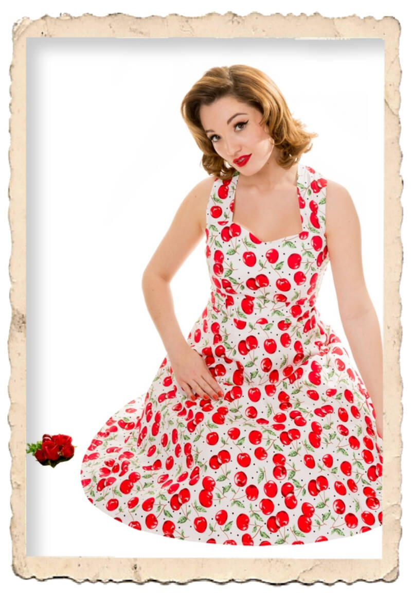 Catherine cherry dress
