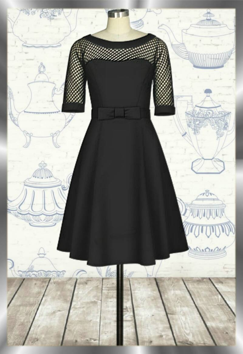 Fishnet vintage dress