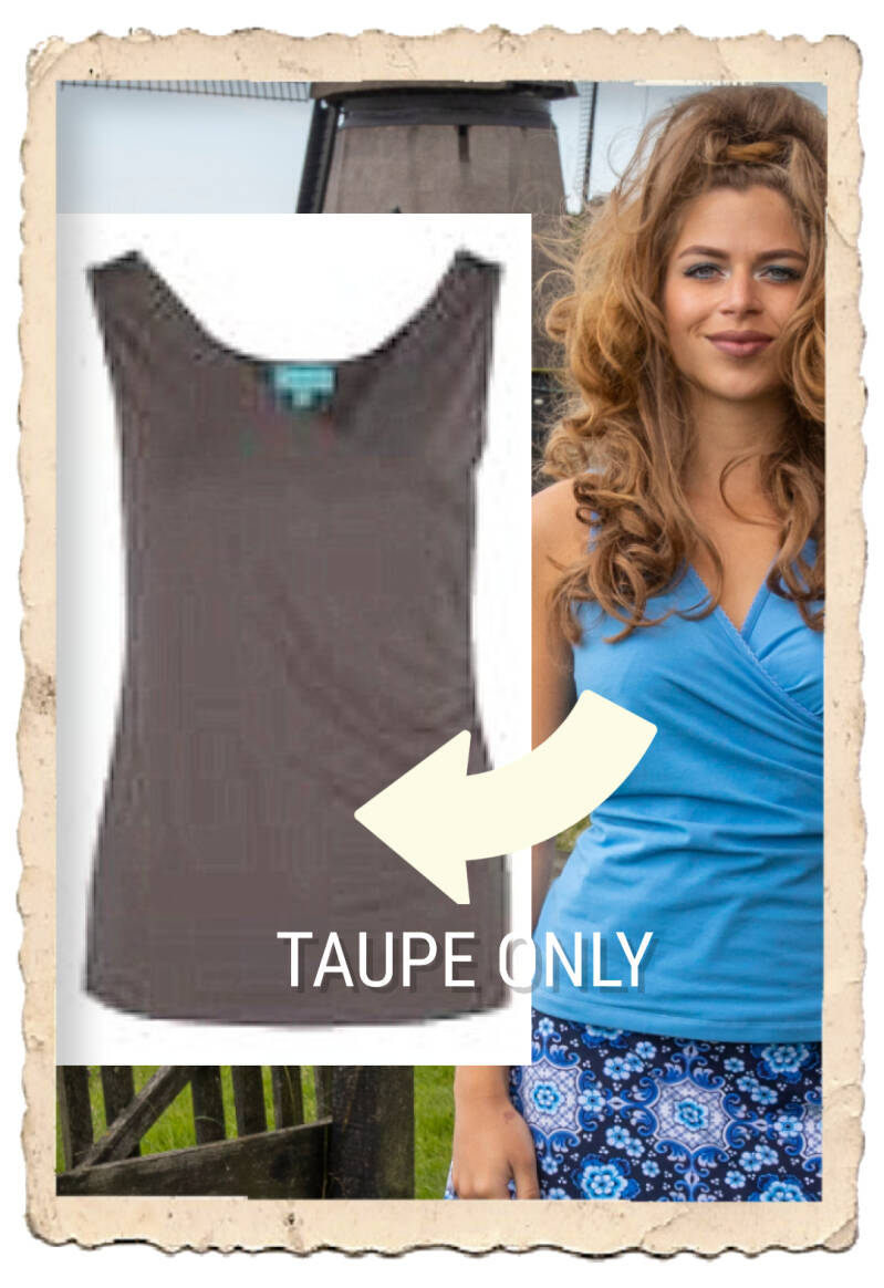 Wrap singlet taupe