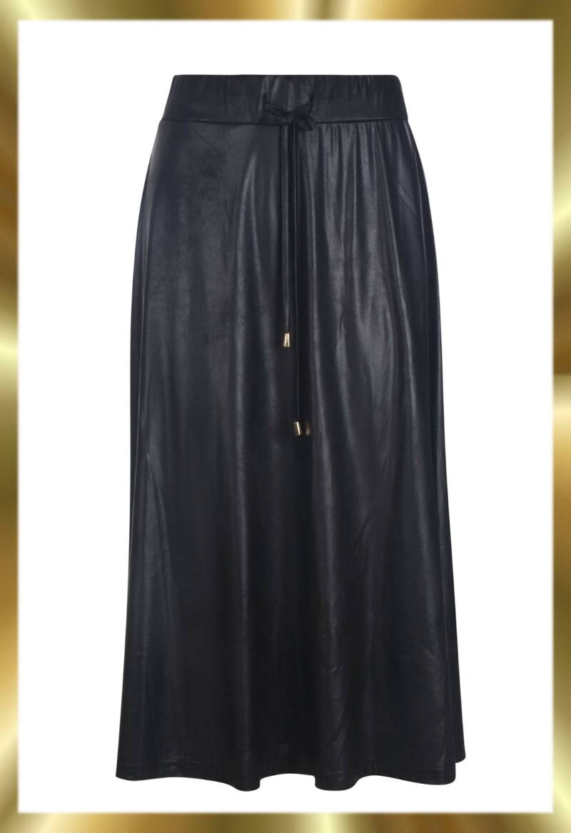 Rok used leather look 8728
