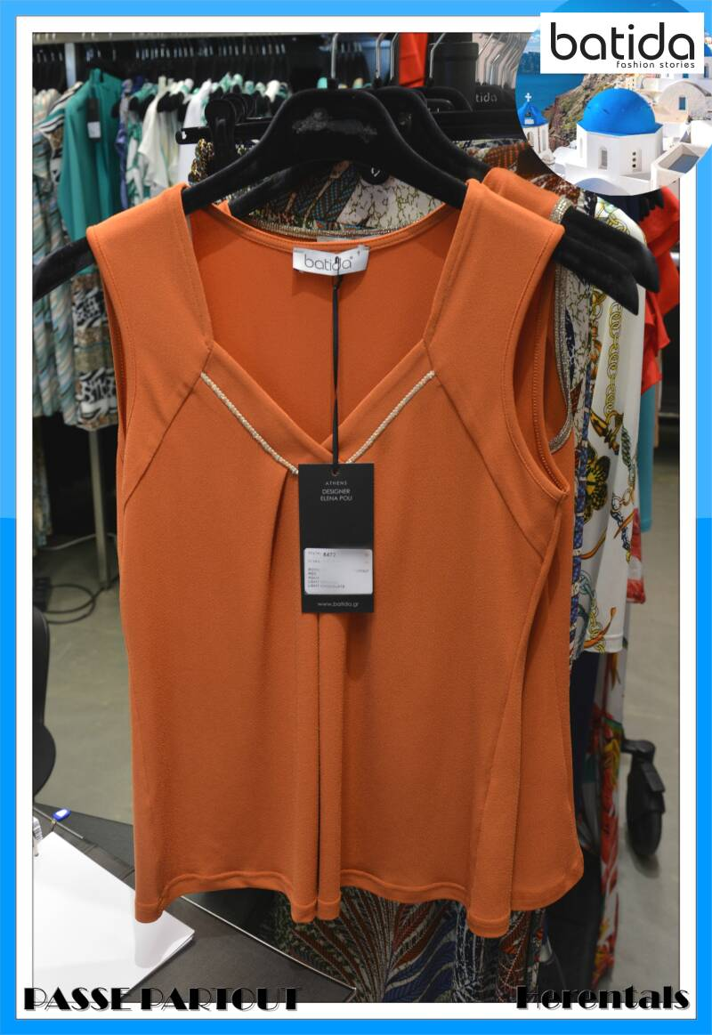 Burnt orange top 8472