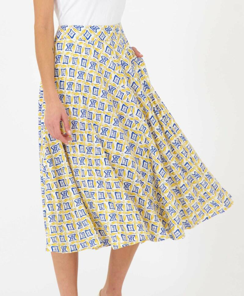 Skirt tails print