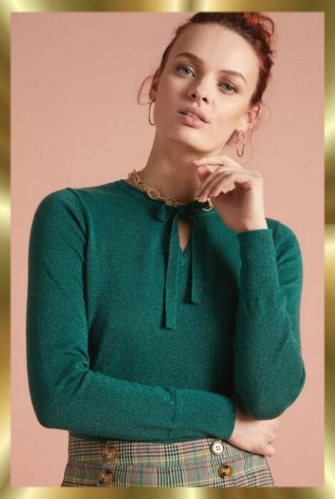 Tillie top Lapis green