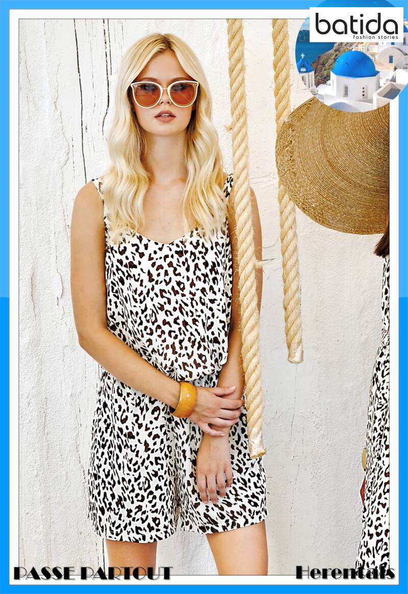 Leopard playsuit 8313
