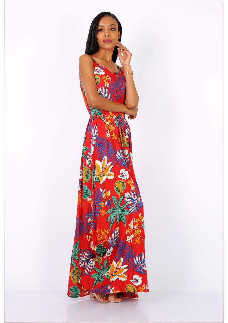 Queen's Lily red maxi dress
