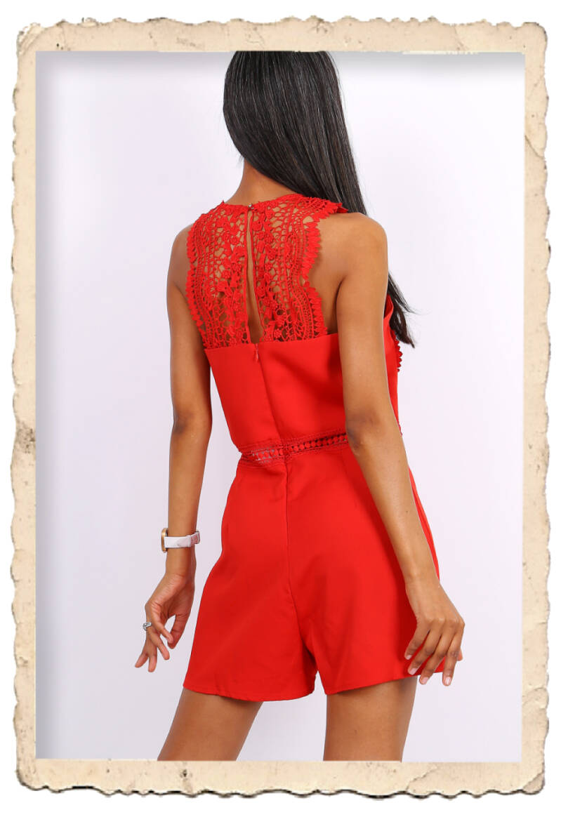 Playsuit lace red