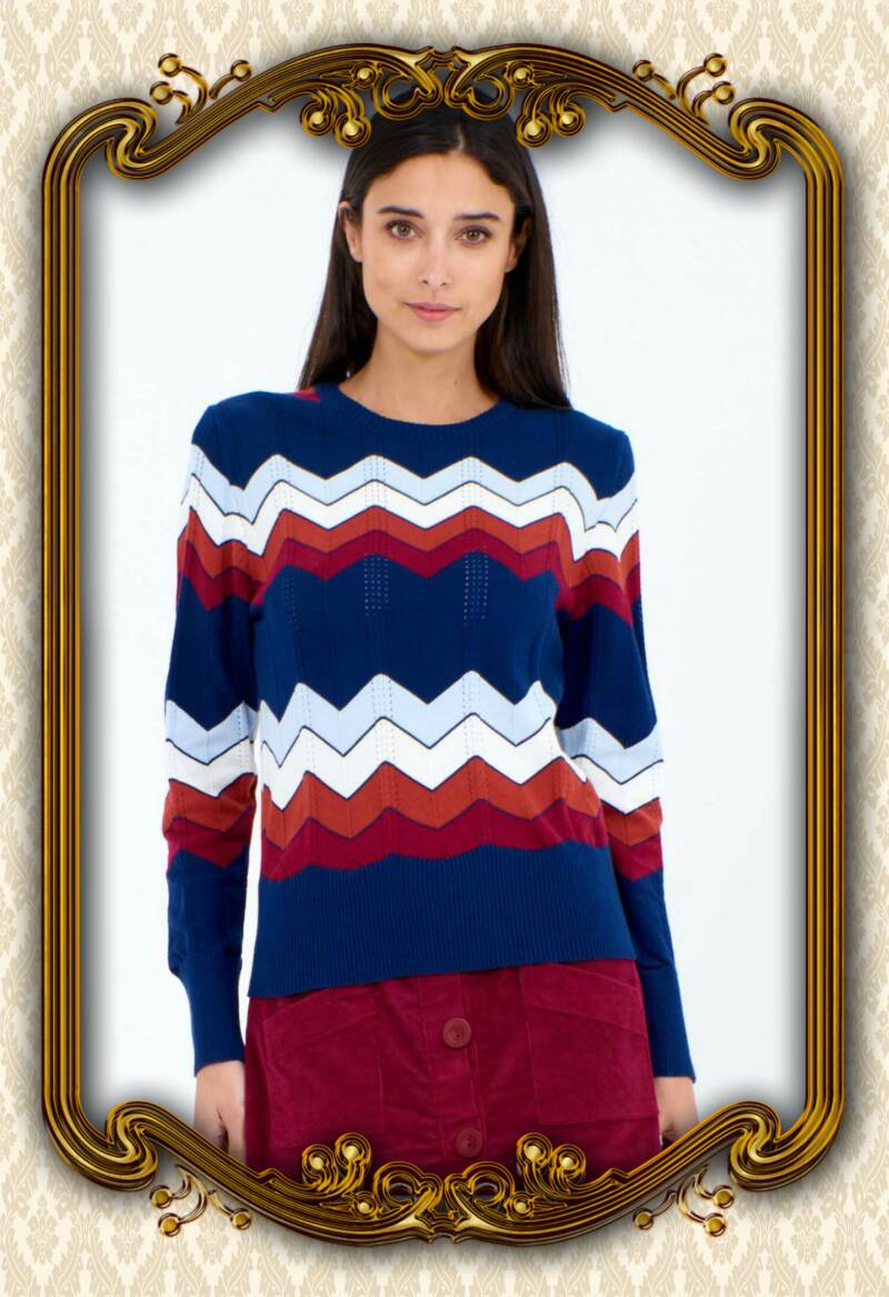 Rainbow knit navy