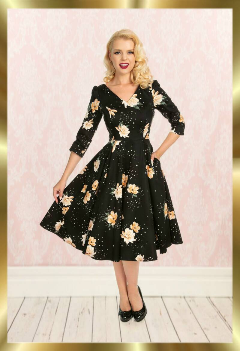 Retro stardust flower dress