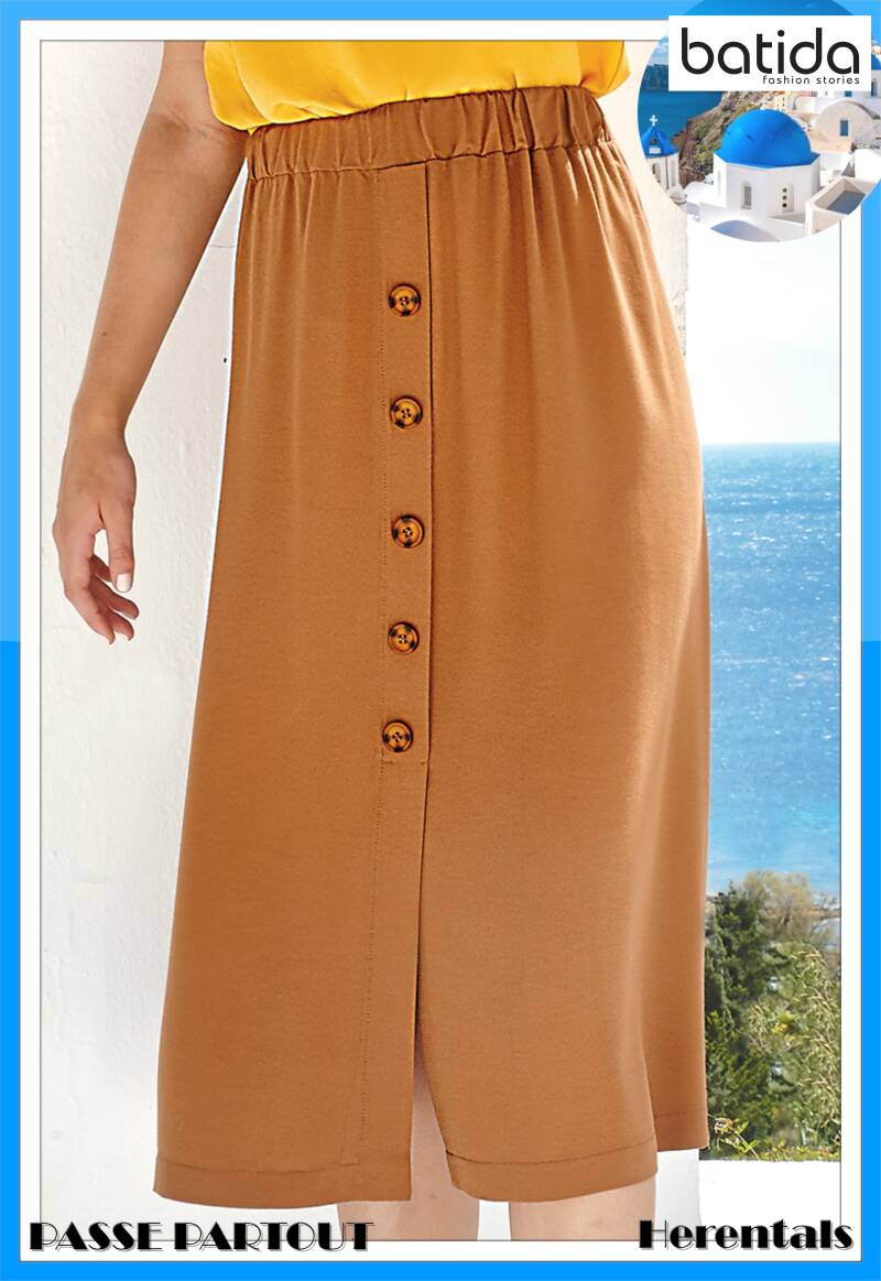 Skirt midi coffee 8440