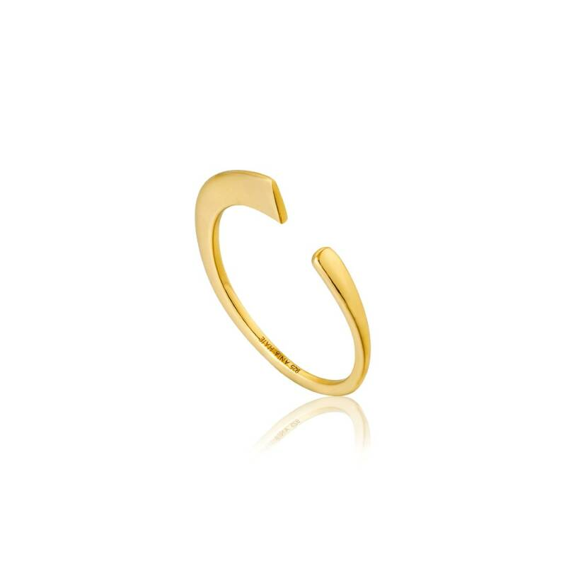 Ania Haie Zilver/verguld ring R005-02G