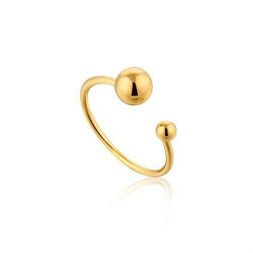 Ania Haie Zilver/verguld ring R001-03G