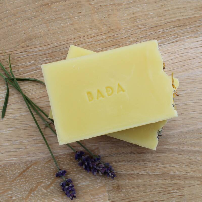 Organic body soap with lavender oil