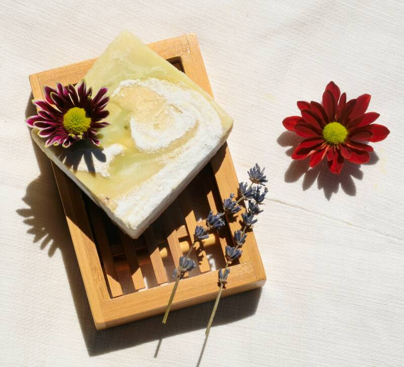 Natural body soap with eucalyptus and rosemary