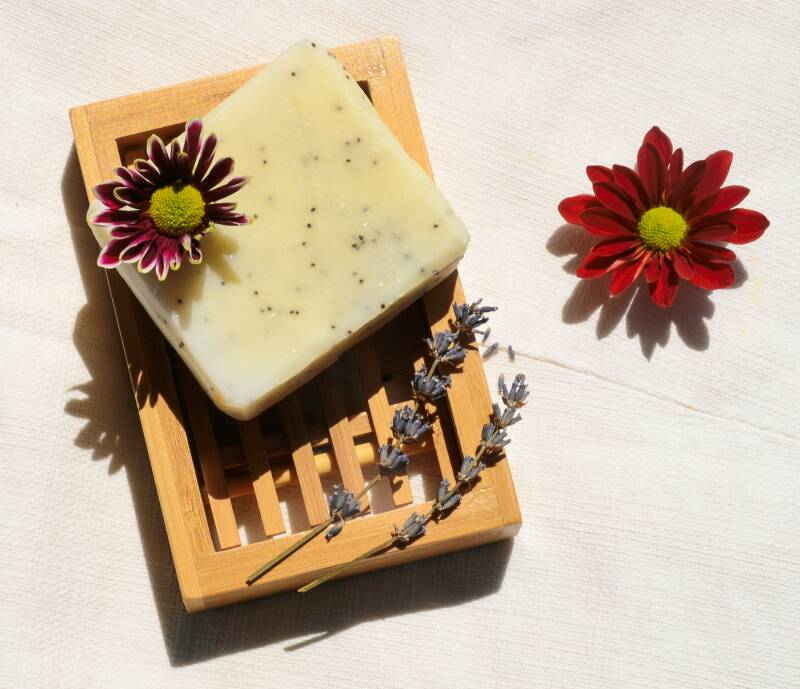 Natural body soap with peppermint and Ylang Ylang