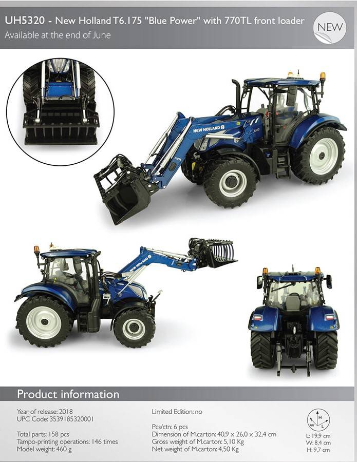 New Holland T6.175 Blue Power FL