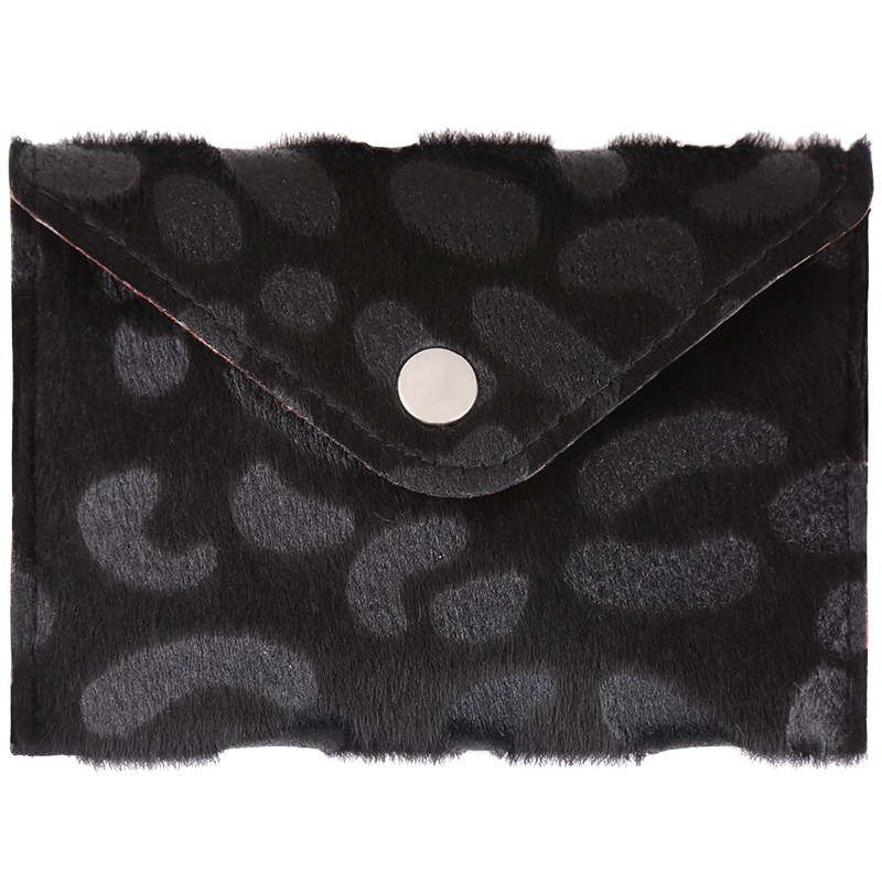 Wallet furry spots black