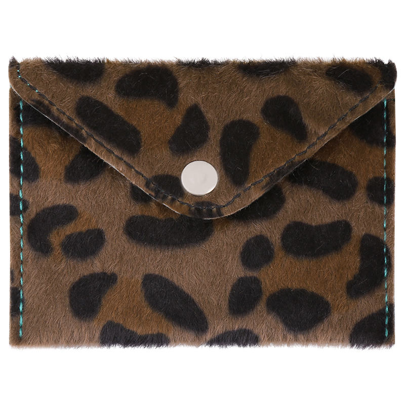 Wallet Furry spots taupe