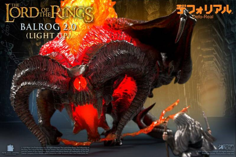 Lord of the Rings Defo-Real Series Soft Vinyl Light-Up Figure Balrog 15 cm
