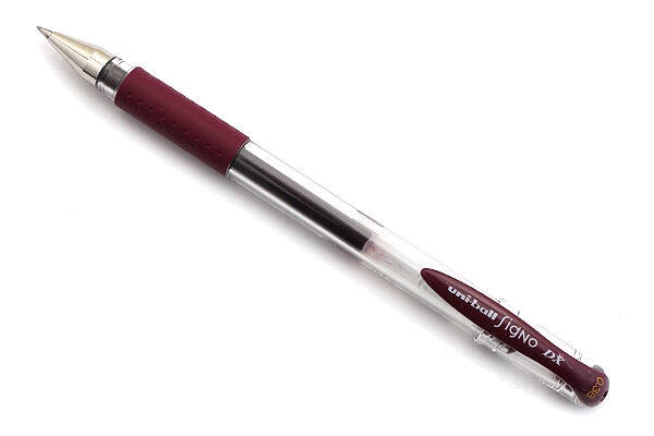 Uni-Ball Signo Gel pen - Bordeaux zwart 0.38mm