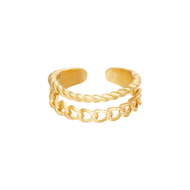 Ring Double Trouble Goud