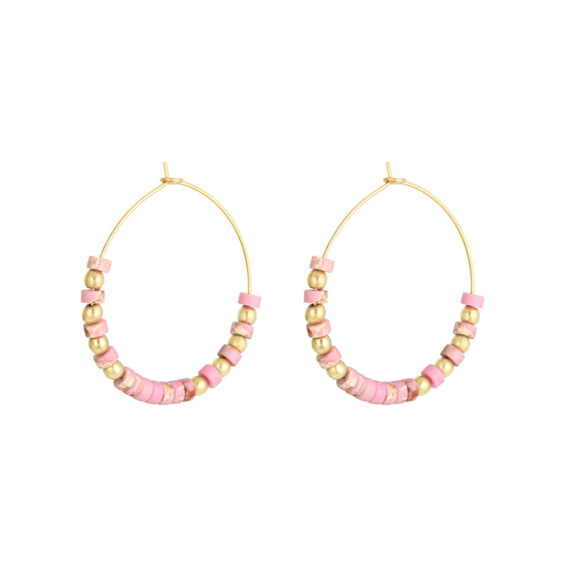 Oorbellen Beaded Hoops