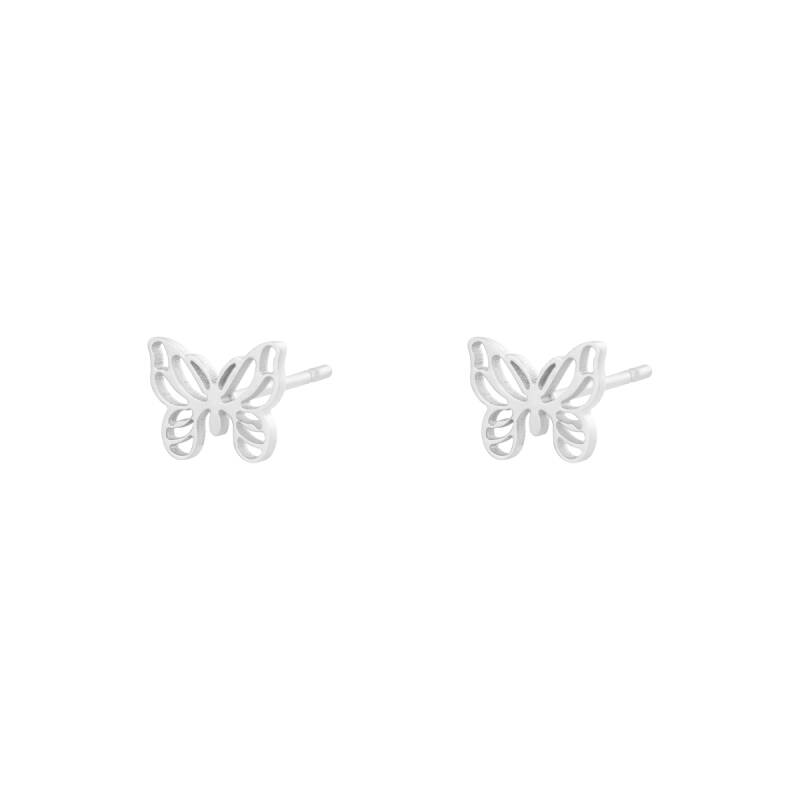 Oorbellen Little Butterfly Zilver