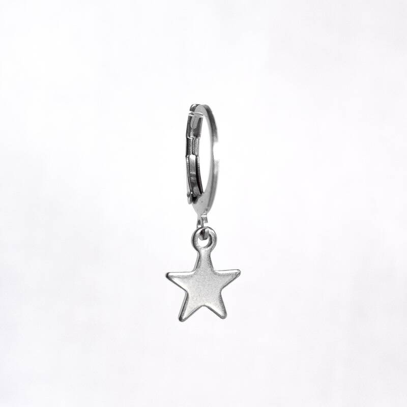 Oorbel Just Star Zilver (1 piece)