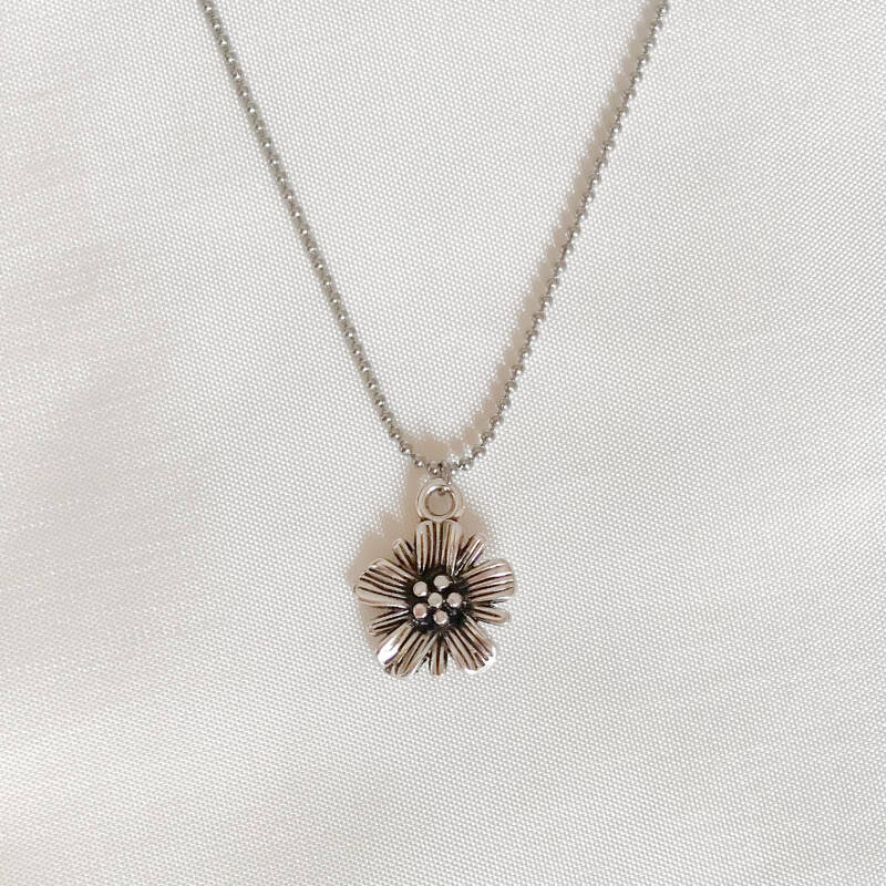 Ketting Flying Daisy Zilver