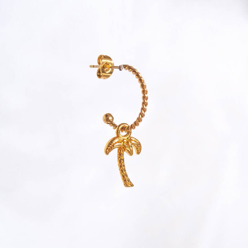 Oorbel Palm Tree Goud (ONE PIECE)
