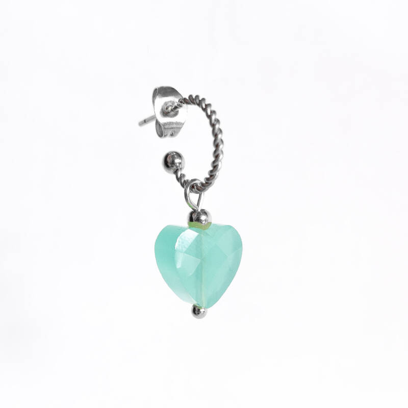 Oorbel Candy Turquoise Blue Zilver (1 piece)