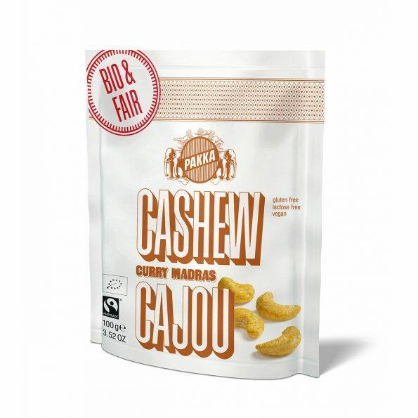 BIO Cashewnoten curry 100 gr