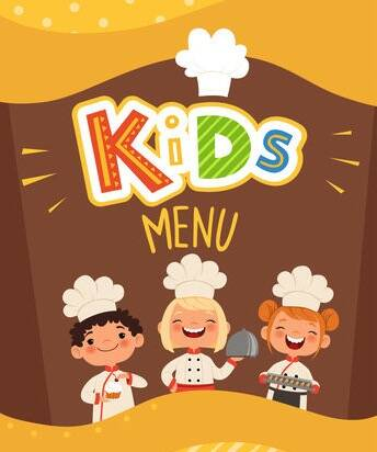 Kids menu kroket appelmoes en blikje chocomel
