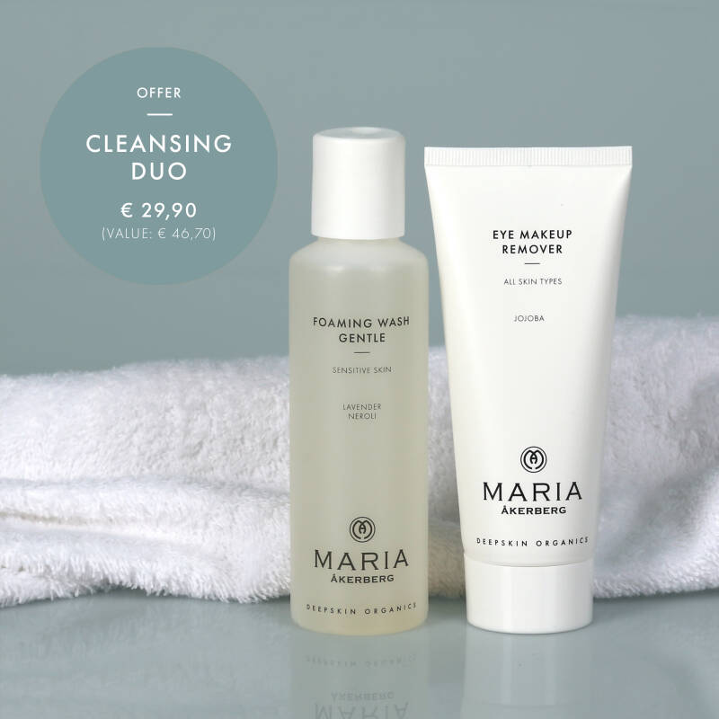 Cleansing Duo (Eye Makeup Remover + Foaming Wash Gentle). Oogreiniger plus zachte huidreiniger (alle huidtypen).
