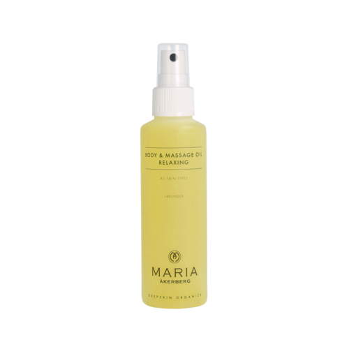 Body & Massage Oil Relaxing (125ml). Lavendelolie voor optimale ontspanning.
